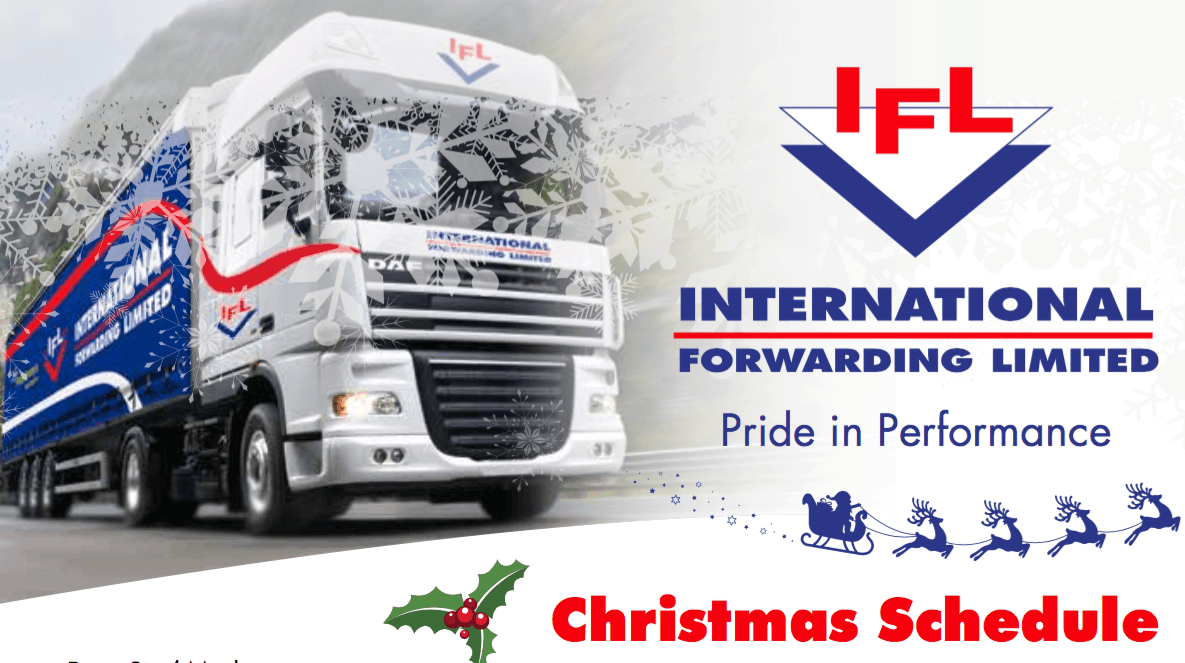 IFL Christmas schedule for freight to UK and Europe
