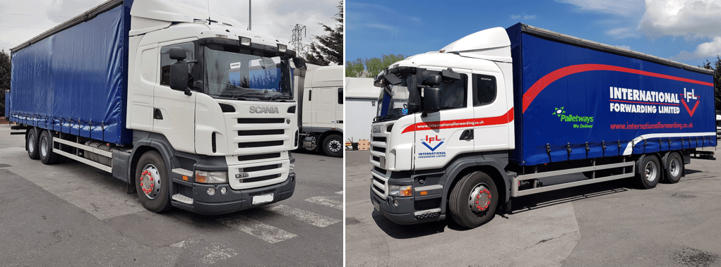 IFL truck before and after