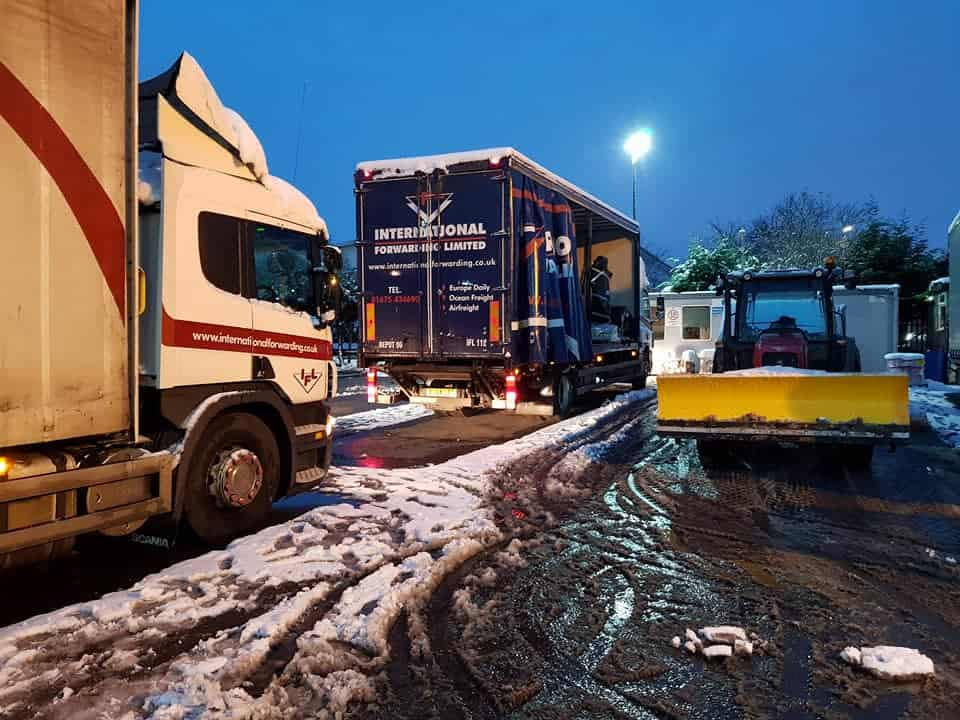 When bad weather hits freight deliveries