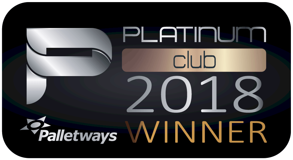 Palletways Platinum Club Winner 2018 logo