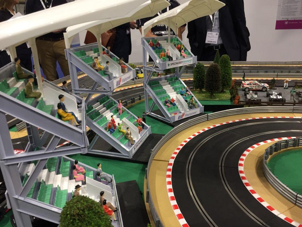 Scalextric crowd
